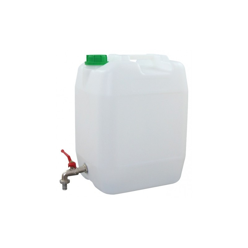 Veekanister plast 20L metallkraaniga