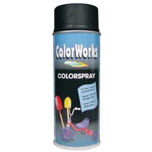 ColorWorks värv must poolläikiv aero. (918530) 400ml