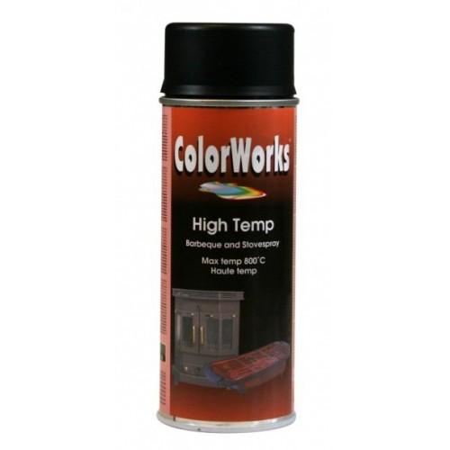 ColorWorks värv kuumuskindel värv must aero. (918550) 400ml
