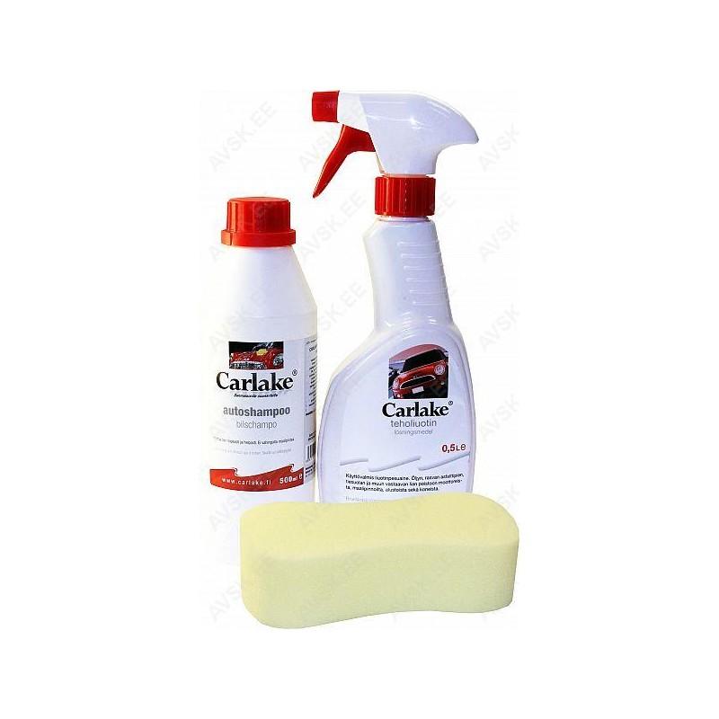 Carlake pesukomplekt (shampoon, pigieemaldi, pesusvamm)