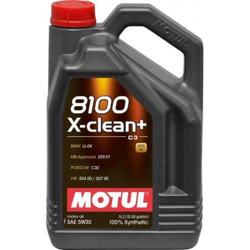 Motul 8100 X-Clean + 5W-30 5L 100% synt
