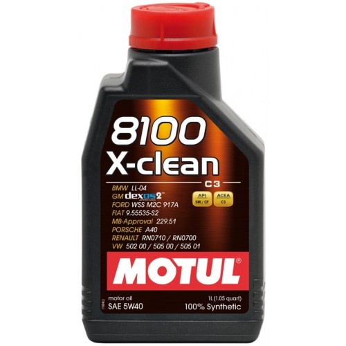 Motul 8100 X-Clean 5W-40 1L acea C3 Euro IV